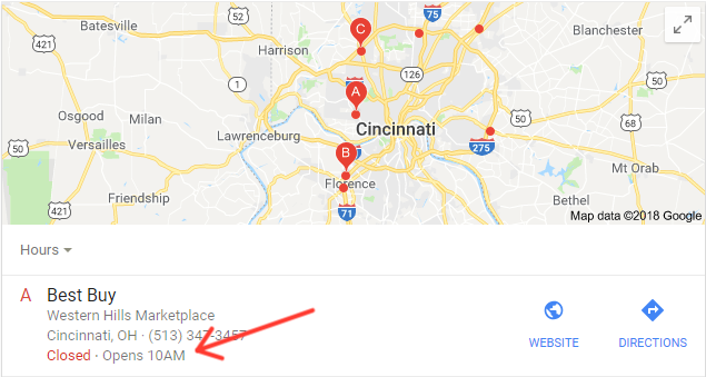 Google My Business - Business Hours Feature