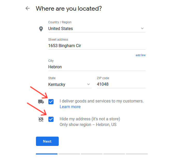 Google My Business: Where are you located?